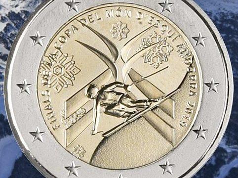 Andorra, 2 euro commemorativo 2019 per lo sci