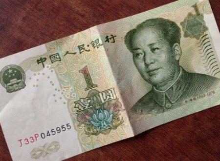 Cina, la banconota da 1 yuan sta per andare in pensione