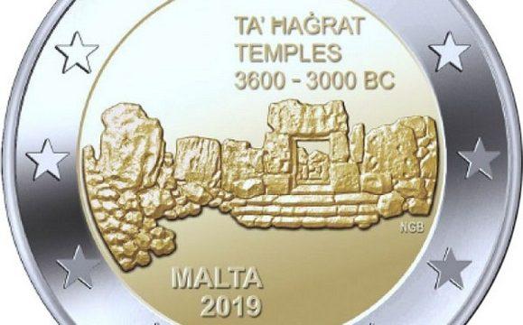 Malta, 2 euro commemorativo 2019 per Ta Hagrat