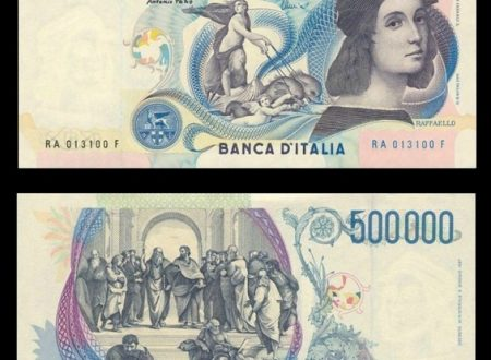Italia, la banconota da 500.000 lire