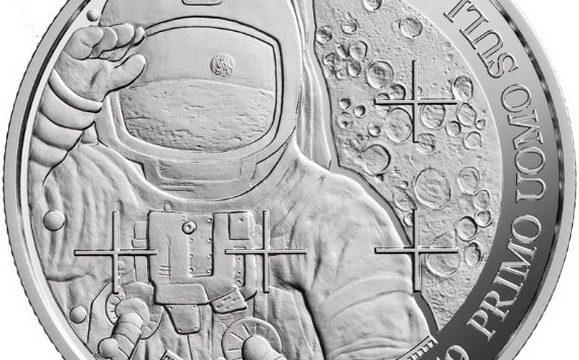 San Marino, 5 euro 2019 per lo sbarco sulla luna