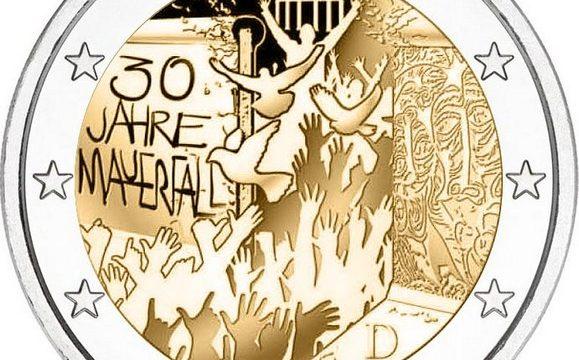 Germania, 2 euro commemorativo 2019 muro di Berlino