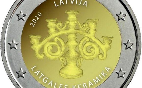 Lettonia, 2 euro commemorativo 2020 per la ceramica