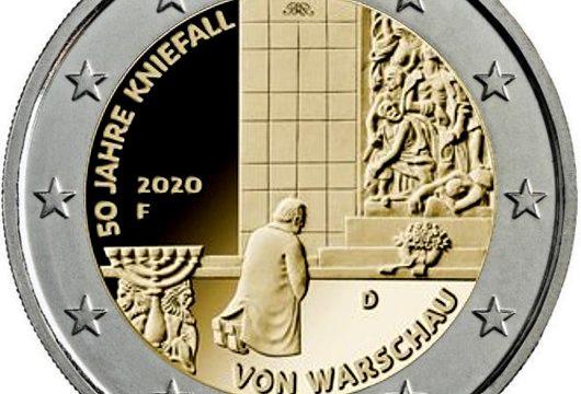 Germania, 2 euro commemorativo 2020 per la genuflessione di Varsavia