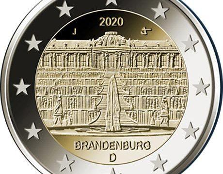 Germania, 2 euro commemorativo 2020 per il palazzo Sanssouci