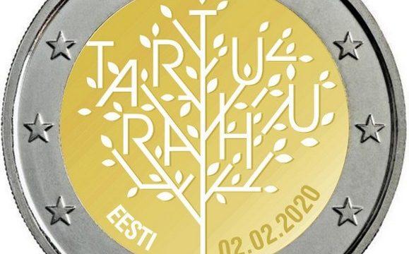 Estonia, 2 euro commemorativo 2020 per il trattato di Tartu
