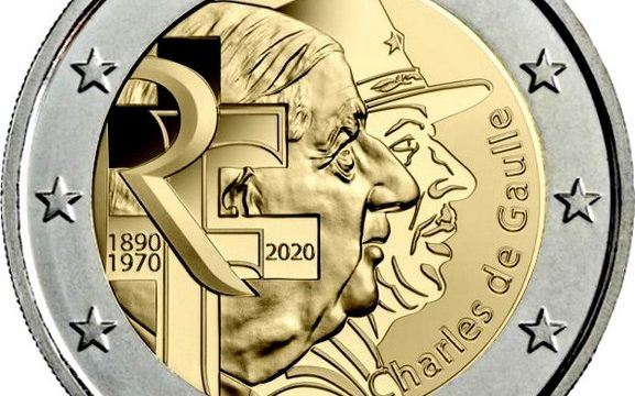 Francia, 2 euro commemorativo 2020 per De Gaulle