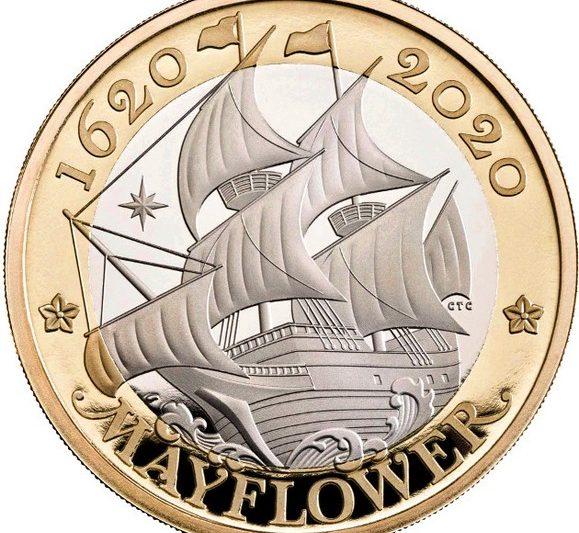 Gran Bretagna, 2 sterline 2020 per la Mayflower