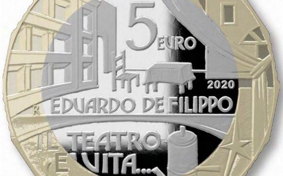Italia, 5 euro 2020 per Eduardo de Filippo