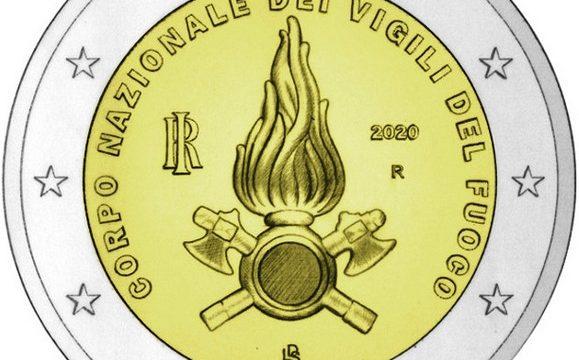 Italia, 2 euro commemorativo 2020 per i Vigili del Fuoco