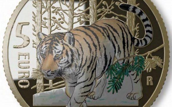 Italia, 5 euro 2020 per la tigre