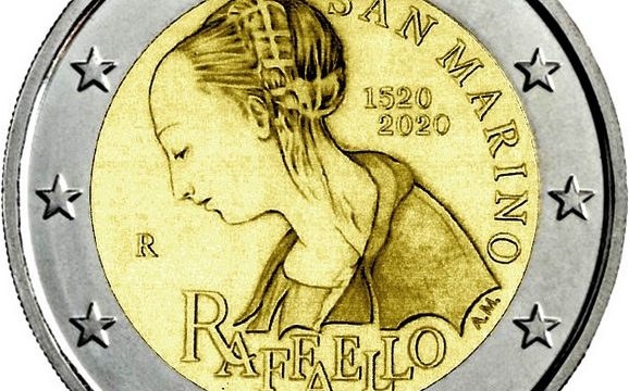 San Marino, 2 euro commemorativo 2020 Raffaello