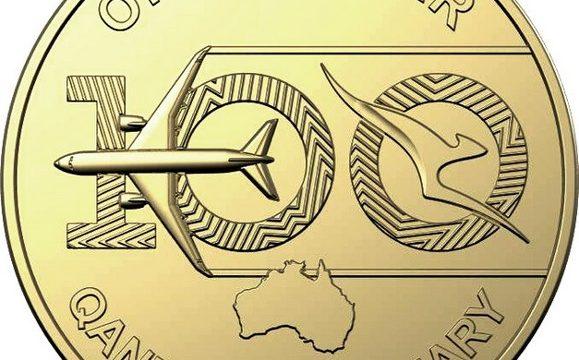 Australia, monete per i 100 anni della Qantas
