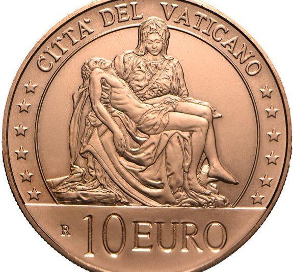 Vaticano, 10 euro 2020 per la Pietà di Michelangelo