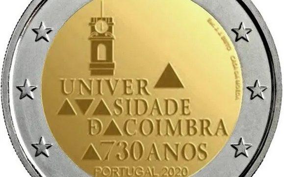 Portogallo, 2 euro commemorativo 2020 Coimbra