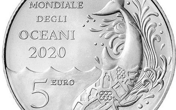 San Marino, 5 euro 2020 per gli oceani