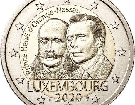 Lussemburgo, 2 euro commemorativo 2020 Enrico