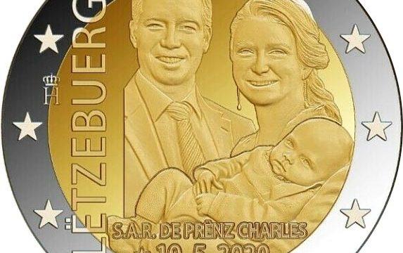 Lussemburgo, 2 euro commemorativo 2020 principe ereditario