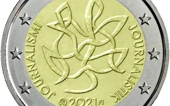 Finlandia, 2 euro commemorativo 2021 per il giornalismo