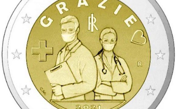 Italia, 2 euro commemorativo 2021 per i medici