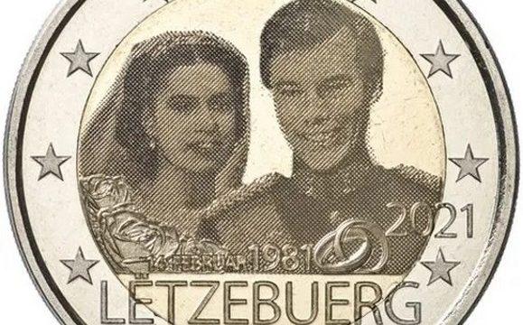 Lussemburgo, i due 2 euro commemorativi 2021