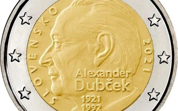 Slovacchia, 2 euro commemorativo 2021 per Dubcek