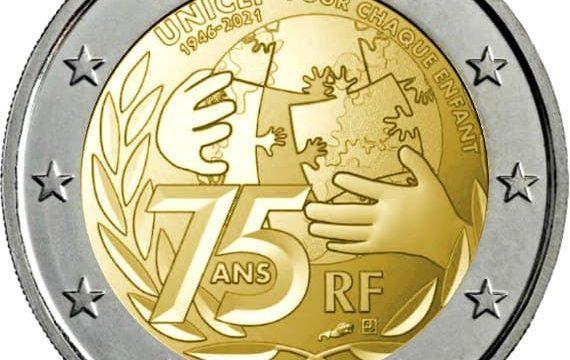 Francia, 2 euro commemorativo 2021 Unicef
