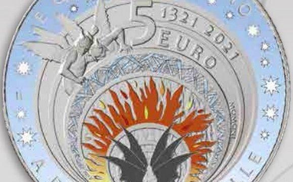 Italia, due monete per l'Inferno di Dante