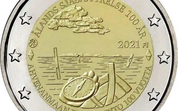Finlandia, 2 euro commemorativo 2021 per le isole Aland