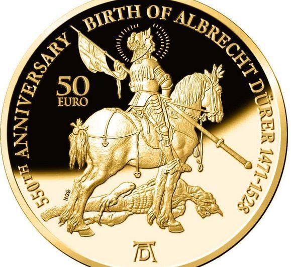 Malta, due monete per Albrecht Dürer