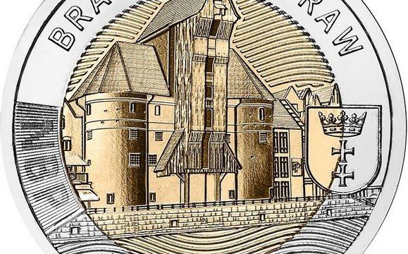 Polonia, moneta per la gru medievale di Danzica