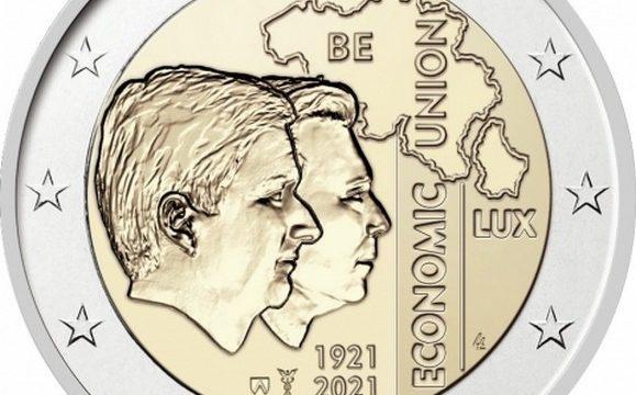 Belgio, 2 euro commemorativo 2021 per l'unione con il Lussemburgo
