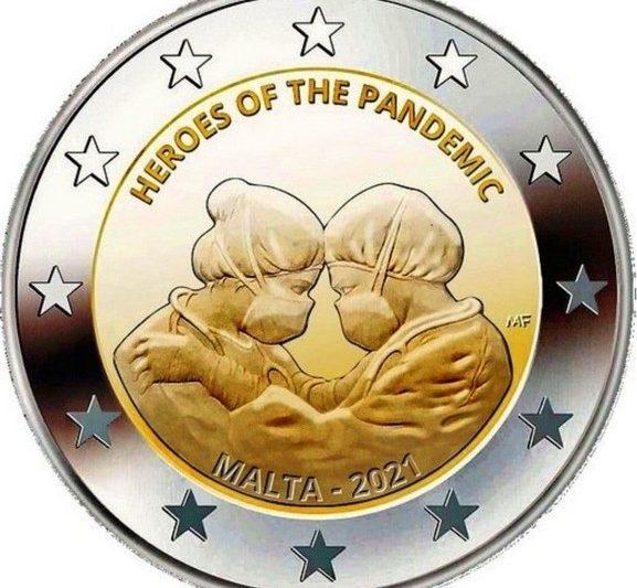 Malta, 2 euro commemorativo 2021 per i medici