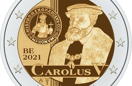 Belgio, 2 euro commemorativo 2021 Carlo V